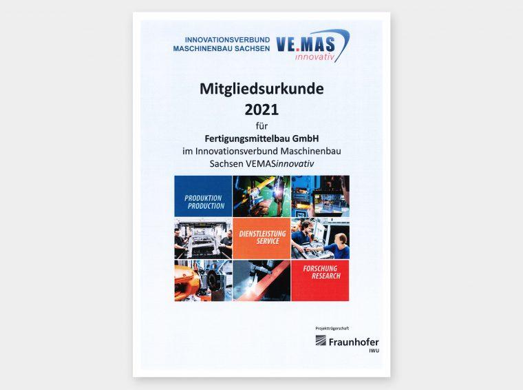 Mitglied im Innovationsverbund Maschinenbau Sachsen – VEMASinnovativ